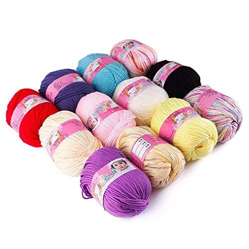 (Crochet Thread Wool - 1 Skein 50g Natural Silk Cotton Baby Sweater Soft Yarn Knitting 68881 - Catalog Yarn Catalogs Hand Woven Thread Linen Yarn Knit Pure Crochet Thick Silk Knitting Na)