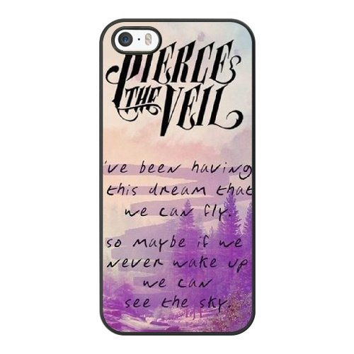 Coque,Apple Coque iphone 5/5S/SE Case Coque, Generic Pierce The Veil Quotes Cover Case Cover for Coque iphone 5 5S SE Noir Hard Plastic Phone Case Cover