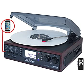 Amazon.com: boytone bt-19djm-c Turntable, 2 construido en ...