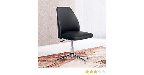 Butaca - Silla de escritorio para despacho modelo MIKE base fija color negro - Sedutahome: Amazon.es: Hogar