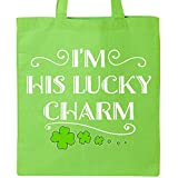 Inktastic - Im His Lucky Charm-St. Patricks Day couple Tote Bag Lime Green 2eee3
