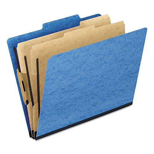 Pendaflex 1257LB - Pressguard Classification Folders, Letter, Six-Section, Light Blue, 10/Box