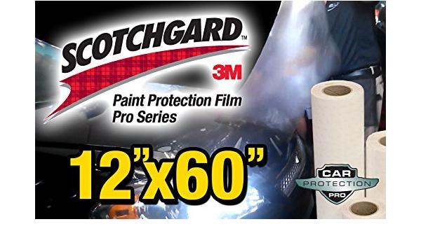 "60/"" x 84/"" 3M Scotchgard PRO Matte Paint Protection Film Clear Bra PPF Bulk Roll"