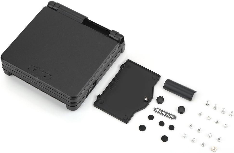 Estuche para Nintendo Game Boy, Estuche para Shell de Gameboy SP, Juego de reparación de la Tapa del Estuche de la Carcasa de reemplazo para Nintendo Game Boy(Negro)