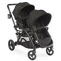 Contornos: opciones El cochecito de bebé doble tándem Elite, configuraciones de asientos múltiples y marco liviano - Gris carbón