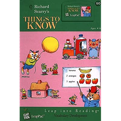 "LeapPad: LeapStart Vocabulary - ""Richard Scarry's Things to Know"" Interactive Book and Cartridge: Toys & Games"