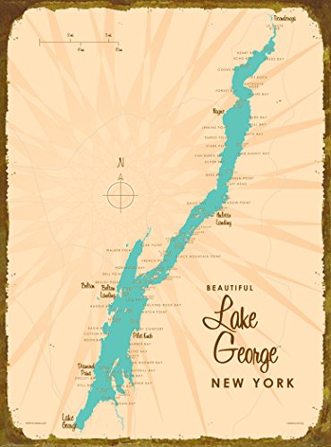 Lake George, NY Map Wood Sign - Lake In Ny George What