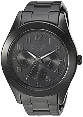 Armitron Men's 20/5236BKTI Multi-Function Black Bracelet Watch