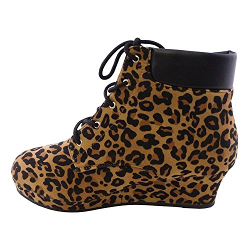Dress Booties Girls Blancho Girls Wedge Blancho LEOPARD EqtxRX