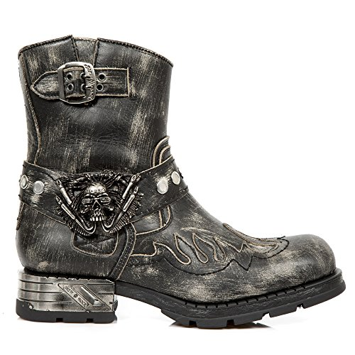 Womens Black New M Rock Leather s3 Boots mr041 PgnO4n8wq