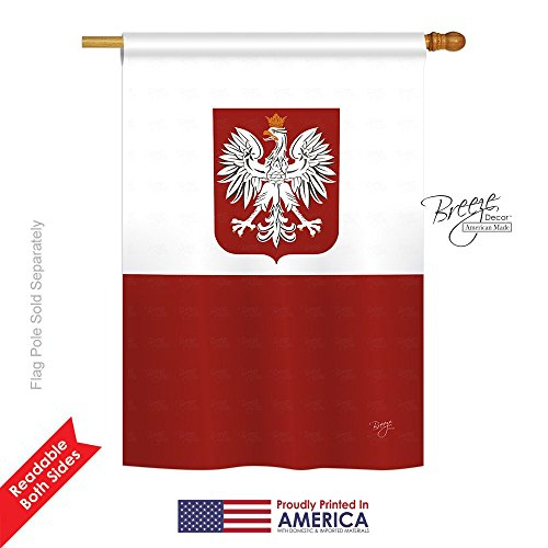 Cheap Breeze Decor H108078 Poland World Nationality Vertical House Flag, 28″ x 40″, Multicolor