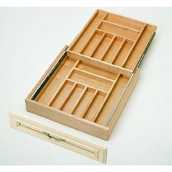 Amazon Com Rev A Shelf Two Tier Wood Cutlery Drawer