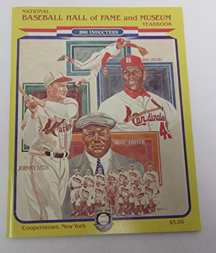 1981 MLB HOF Yearbook Gibson/Mize Inducted 141476