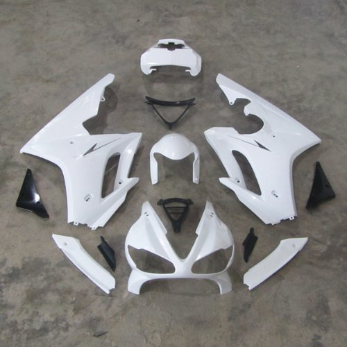 Wotefusi Brand New Motorcycle ABS Plastic Unpainted Polished Needed Injection Mold Bodywork Fairing Kit Set For Honda Triumph Daytona 675 2009 2010 2011 2012 White Base Color