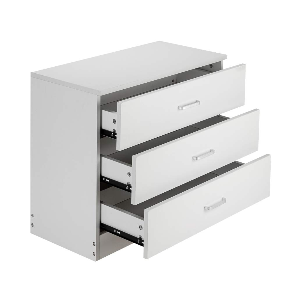 Modern and Elegant Style Wood 3-Drawer Dresser