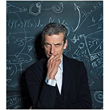 Doctor Who 8 x 10 Photo Doctor Who Peter Capaldi/The Doctor in Front of Chalkboard kn
