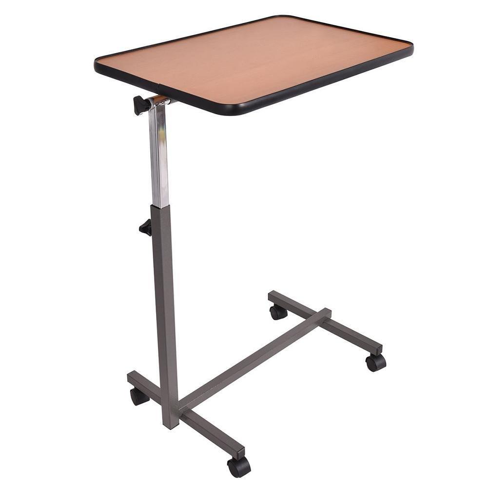 Gracefulvara Overbed Rolling Table Laptop Food Tray Desk