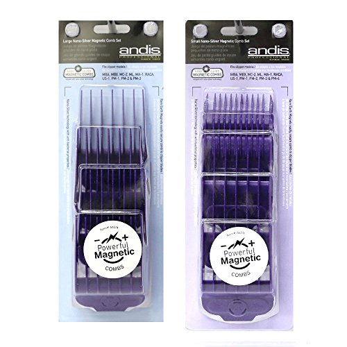 Andis Magnetic Comb Combo, Small and Large