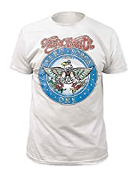 Impact Aerosmith Aero Force Men's White Short Sleeve Tee