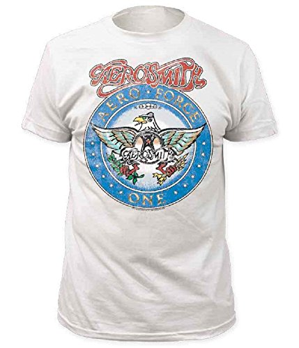 Aerosmith Aero Force Men's White Short Sleeve Tee (Adult - Glasses Garth
