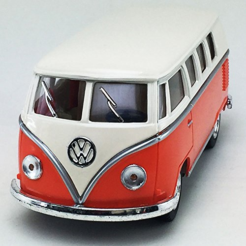 (1962 VW Volkswagen Classical Bus Samba Kinsmart 1:32 DieCast Model Toy Car Bus Collectible)