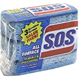 S.O.S. All Surface Sponge, Pack of 3
