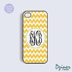 Monogram iPhone 6 Case - 4.7 inch model - Tangerine Chevron Cute iPhone Cover