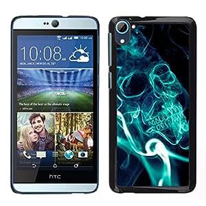 ZAKO CASE - Blue Smoke Skull - FOR HTC Desire D826 - Carcasa Funda Case Bandera Cover Armor Shell