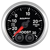 Auto Meter 5677 Elite 2-1/16'' 30 in Hg-30 PSI Boost-Vacuum Gauge