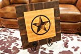 Chopping Blox Wood End Grain Cutting Board with Inlay Texas Star. Model TEXB