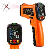 Infrared Thermometer, ZOTO PM6530D Digital Laser Non Contact Temperature Gun -50? to 800? with LED Display K-Type thermocouple for Kitchen Cooking BBQ Automotive and Industrial