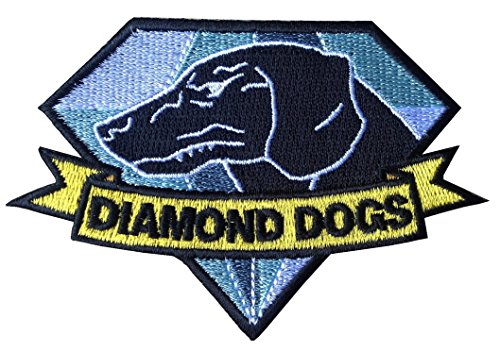 [Diamond Dogs Metal Gear Solid Big Boss Cosplay Iron on Patch] (Metal Gear Solid 1 Snake Costume)