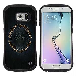 "Hypernova Slim Fit Dual Barniz Protector Caso Case Funda Para Samsung Galaxy S6 EDGE / SM-G925(NOT FOR S6!!!) [El anillo""]"