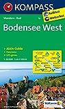 Bodensee West: Wanderkarte mit Aktiv Guide, Radwegen und Panorama. GPS-genau. 1:50000 (KOMPASS-Wanderkarten)
