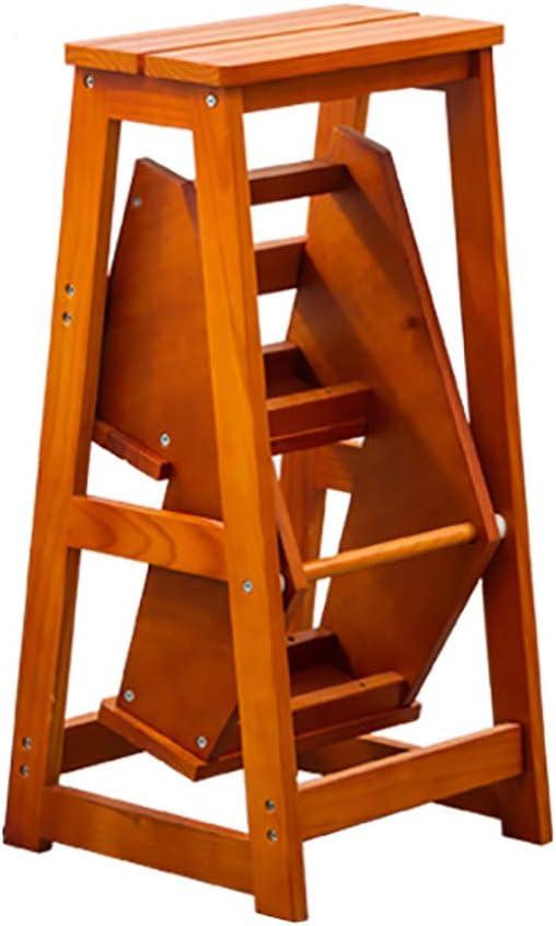 Taburete Escalera Plegable,Escalera Taburete,Sillas de Escalera, Escalera de Tres Pisos para el hogar, peldaño Ascendente, Plegable de Pino Multiusos (Blanco/Negro/Rojo): Amazon.es: Hogar