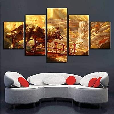 WEPAINT Lienzo HD Imprime Fotos Modular Wall Art Framework 5 ...
