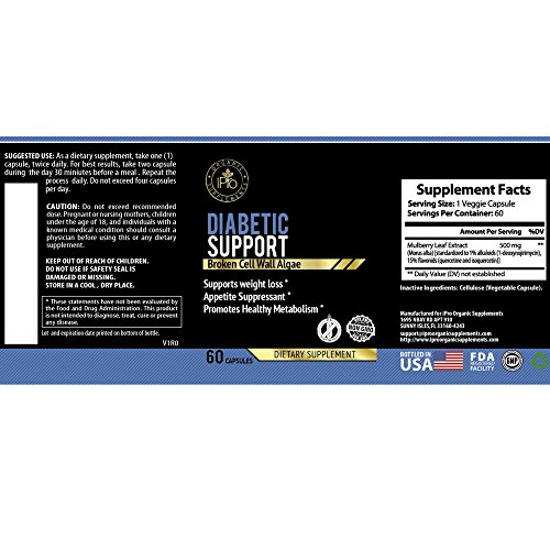 IPro Organic Supplements Diabetic Support WMB – 60 Caps