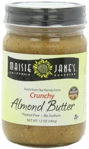 Maisie Janes Crunchy Almond Butter, 12 Ounce -- 12 per case.