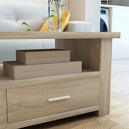 home & kitchen, furniture, living room furniture, tables,  coffee tables  on sale, soges Coffee Table/Console Table/TV Stand Living Room Entertainment Center Media Storage Console Living Room Furniture, Natural Color promotion2