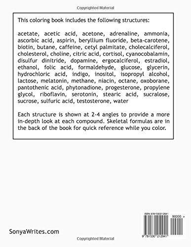 Chemical Structures Coloring Book: Amazon.es: Sonya Writes: Libros ...
