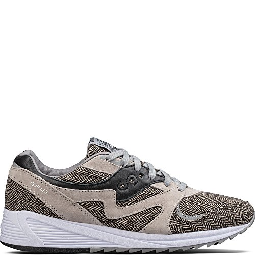 Saucony Grid 8000 Cl Ht Tailored Grey | Zwart