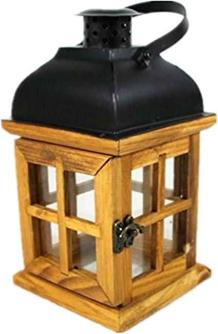 TentHome - Portavelas de madera rústica para decoración de ...