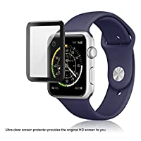 Apple Watch Glass Screen Protector 42mm (Series 1/2/3) 3D Full Coverage (2-pack) by FlexGear