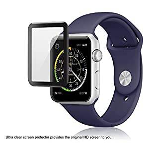 Apple Watch Glass Screen Protector 42mm (series 1/ 2/ 3) 3D full coverage (2-pack) from FlexGear
