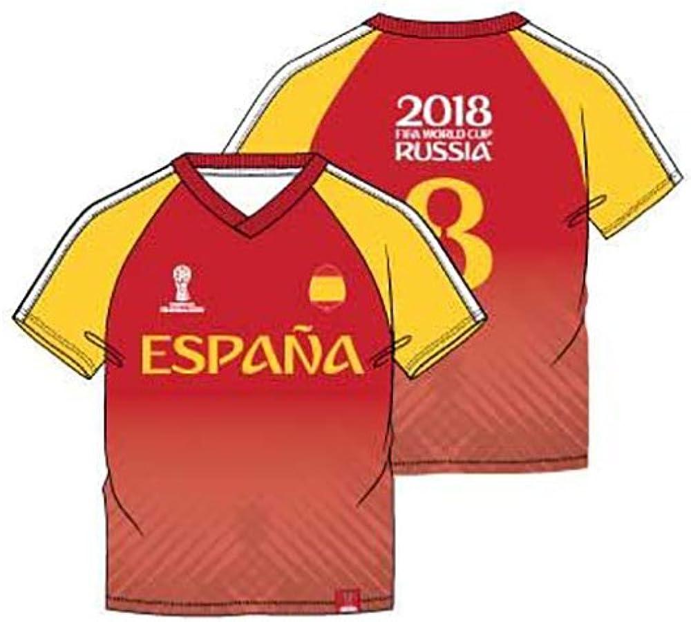 FIFA World Cup 2018 Camiseta de Manga Corta - Para Niño Rojo 8 ...