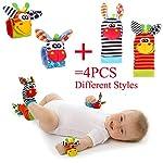 Baby Rattle Neonato Sonagli Calzini da Polso a Sonaglio per Bambini, Simpatici Animaletti Developmental Soft Toys… Abbigliamento Baby Rattle 16
