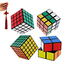 4 Magic Speed Cube Rubik's Puzzle 2x2 3x3 4x4 5x5 Toys Gift Kids
