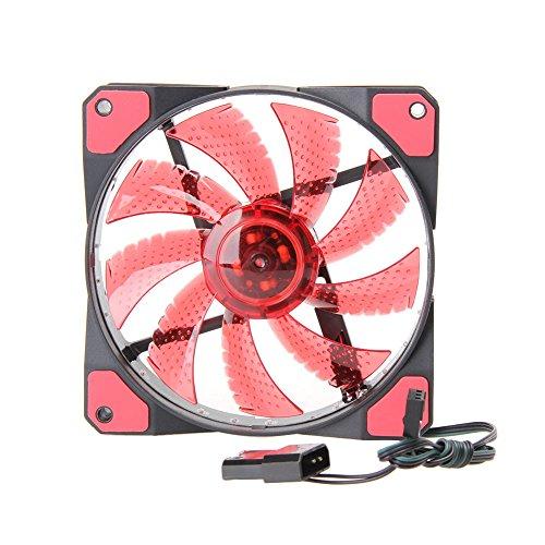 15 LED 12V Light Neon Quite Computer Case Cooling Fan Mod (Green) - 3