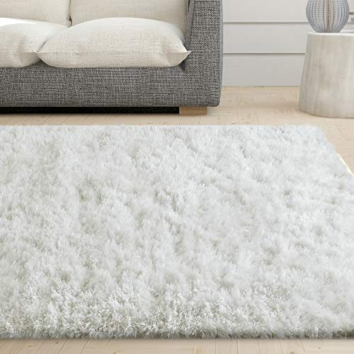 iCustomRug Cozy & Soft White Faux Sheepskin Fur Shag Area Rug Review