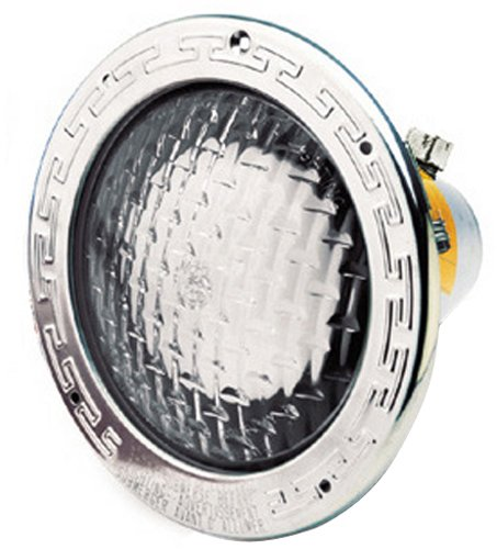 (Pentair 78458200 Amerlite Underwater Incandescent Pool Light with Stainless Steel Face Ring and Medium Blue Lens, 120 Volt, 50 Foot Cord, 500 Watt)